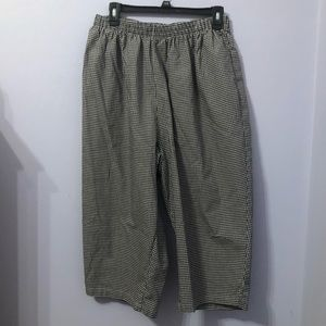 Vintage plus size gingham cropped pants